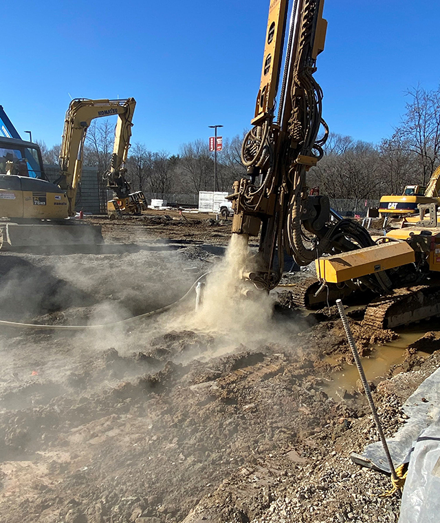 Technical Foundations completed 14 micropiles per day