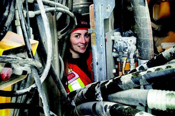 Kassie Davidson, the first female service technician in ECA's history