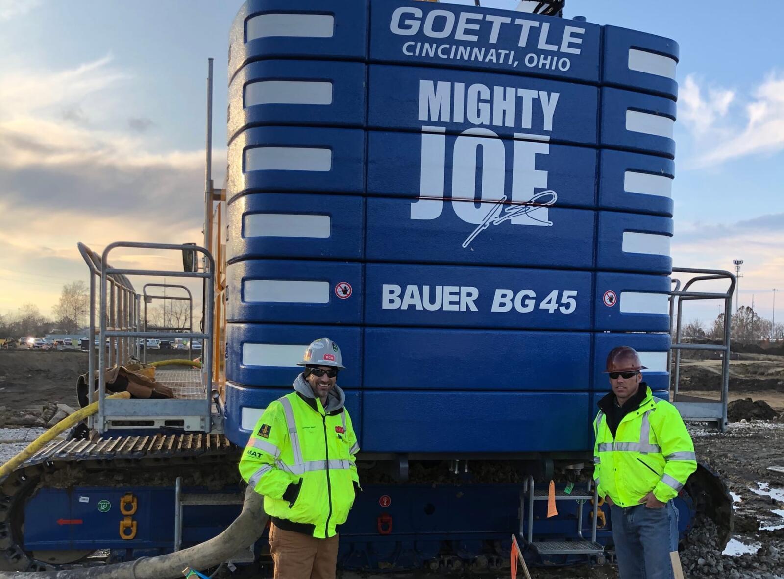 Mighty joe bauer bg 45 dedication